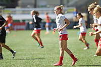 Portland, OR - Saturday August 05, 2017: Tyler Lussi during warmups before a regular season National Women's Soccer League (NWSL) match between the Portland Thorns FC and the Houston Dash at Providence Park.