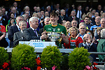 17-1-2017: Four goal here and Man of the Match David Clifford accepts the Tommy Markem Cup for the President of the GAA Aogan O'Fearghail after victory in the All-Ireland Football final at Croke Park on Sunday.<br /> Photo: Don MacMonagle