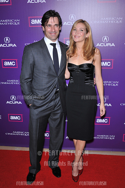 Jon Hamm & girlfriend Jennifer Westfeldt at the 23rd American Cinematheque Award Ball at the Beverly Hilton Hotel..December 1, 2008  Beverly Hills, CA.Picture: Paul Smith / Featureflash