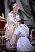 Ordained  new priests Pope Benedict XVI ceremony in St.Peter Basilica at the Vatican.June 20, 2010.