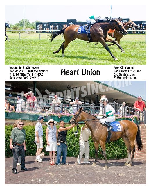 Heart Union winning at Delaware Park on 7/4/12