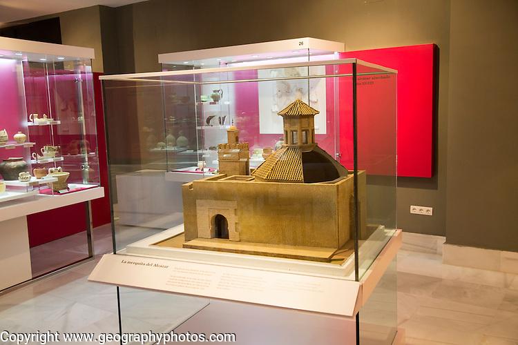 Model of Alcazar mosque, archaeology museum, Jerez de la Frontera, Cadiz Province, Spain