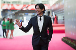 Adam Pak walks the Red Carpet event at the World Celebrity Pro-Am 2016 Mission Hills China Golf Tournament on 20 October 2016, in Haikou, China. Photo by Weixiang Lim / Power Sport Images