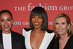 Left to right Samira Nasr, Fashion Director of ELLE; Kerry Washington, actress; and Liz Rodbell, President of Lord and Taylor; arrive at The Fashion Group International's Night of Stars 2017 gala at Cipriani Wall Street on October 26, 2017.