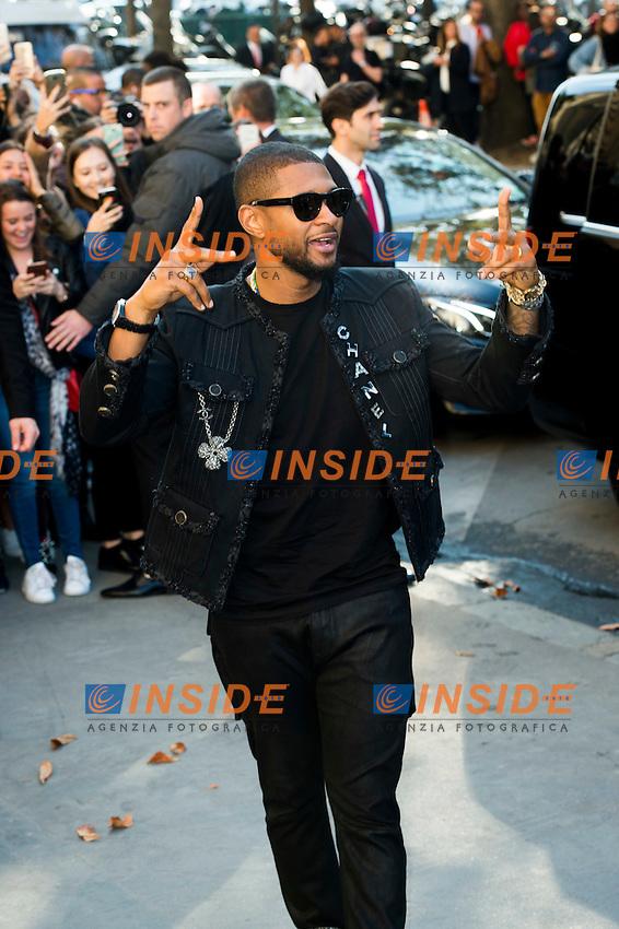 Usher Chanel s fashion show arrivals - Paris - 04/10/2016 <br /> Foto Panoramic / Insidefoto