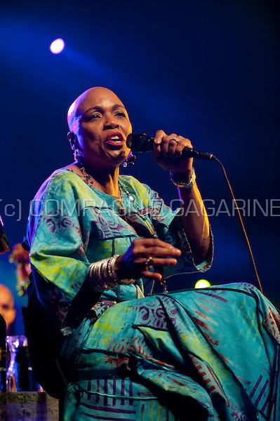 American jazz singer Dee Dee Bridgewater at the Jazz Middelheim festival in Antwerp (Belgium, 14/08/2009)