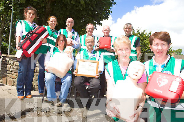 LIFE SAVERS: Members of the Athea First Responders group who recently received awards from the Irish Heart Foundation, front l-r: Helen Twomey, Roger Byrne, Kathleen Mullane, Julie O'Connor. Back l-r: Lorraine Mulvihill, Aine Reidy, Denis Casey, Mike Hayes, Mike Enright, JJ Tierney.