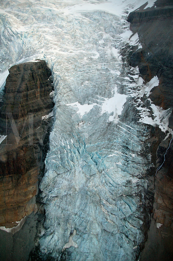 An icefall above the Root Glacier, Wrangell-St. Elias National Park and Preserve, Alaska