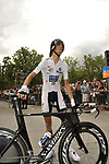 White Jersey holder Andy Schleck (LUX) Team Saxo Bank before the start Stage 18 of the Tour de France 2009 an individual time trial running 40.5km around Lake Annecy, France. 23rd July 2009 (Photo by Eoin Clarke/NEWSFILE)