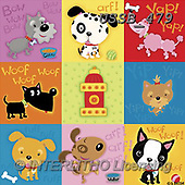 Sarah, CUTE ANIMALS, LUSTIGE TIERE, ANIMALITOS DIVERTIDOS, paintings+++++MW-09-E-1,USSB479,#AC#, EVERYDAY ,collage,dogs