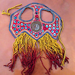 ANTIQUE TEXTILE EMBROIDERY MASK