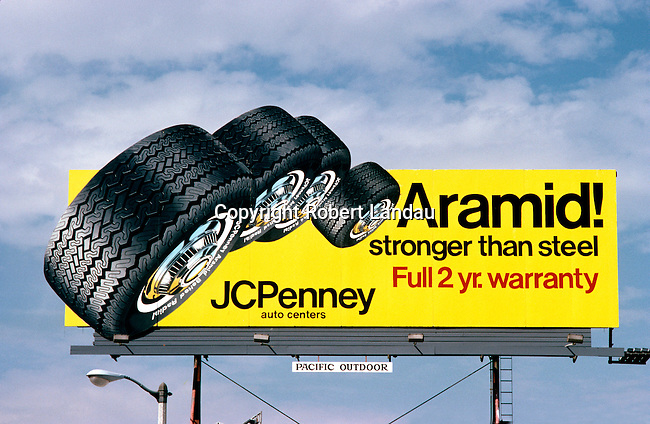 Billboard advertising JC Penny tires in Los Angeles, CA