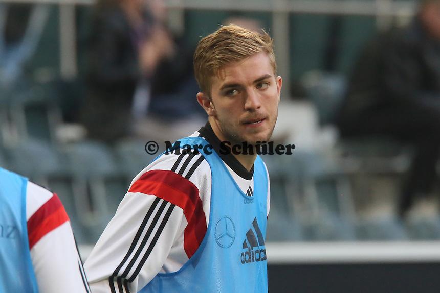 Christoph Kramer (D) beim Aufwärmen - Deutschland vs. Kamerun, Mönchengladbach