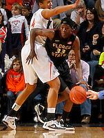 Florida State Seminoles forward Natasha Howard (33) handles the ball during the game against Virginia Jan. 12, 2012 in Charlottesville, Va.  Virginia defeated Florida State 62-52.