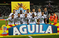 MANIZALES - COLOMBIA, 08-04-2019: Jugadores de Once posan para una foto previo al encuentro por la fecha 14 de la Liga Águila I 2019 entre Once Caldas y Envigado F.C. jugado en el estadio Palogrande de la ciudad de Manizalez. / Players of Once pose to a photo prior the match for the date 14 of the Liga Aguila I 2019 between Once Caldas and Envigado F.C. played at the Palogrande stadium in Manizales city. Photo: VizzorImage / Santiago Osorio / Cont