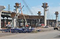 """2010 09-29 New Pearl Harbor Memorial """"Q"""" Bridge   Contract B Construction Progress   New Haven CT"""