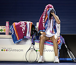 Vera Zvonareva (RUS) in action against Dinara Safina (RUS) on day 11 of the Australian Open Tennis , 29-1-09
