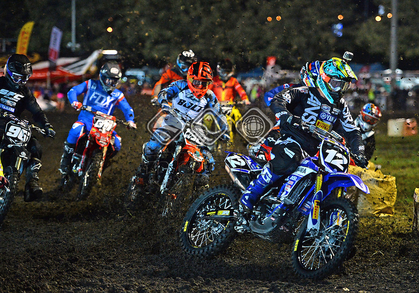 Jed Beaton / Yamaha<br /> 2015 Round 1 / Class : MX2<br /> Australian Supercross Championship<br /> Bathurst NSW 10 October 2015<br /> &copy; Sport the library / Jeff Crow