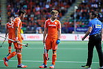 The Hague, Netherlands, June 15: Mink van der Weerden #30 of The Netherlands reacts to a umpires desicion during the field hockey gold match (Men) between Australia and The Netherlands on June 15, 2014 during the World Cup 2014 at Kyocera Stadium in The Hague, Netherlands. Final score 6-1 (2-1)  (Photo by Dirk Markgraf / www.265-images.com) *** Local caption ***
