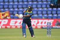 Kusal Perera (Sri Lanka) swings the ball through mid wicket during Afghanistan vs Sri Lanka, ICC World Cup Cricket at Sophia Gardens Cardiff on 4th June 2019