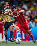Leicester City vs Shanghai SIPG during their Main Plate Semi-Final match as part of day three of the HKFC Citibank Soccer Sevens 2015 on May 31, 2015 at the Hong Kong Football Club in Hong Kong, China. Photo by Xaume Olleros / Power Sport Images
