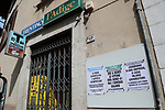 24/03/2020 in Pergine Valsugana, Italy. Most part of Europe is today on a sweeping confinement to try to slow down the spread of the Covid-19 Pandemic. Newspapers stand closed wwith Local Media titles about the virus pandemic and the economic crises.