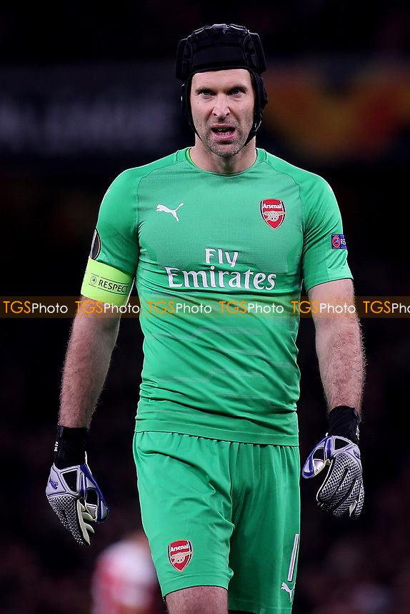 Arsenal goalkeeper, Petr Cech during Arsenal vs Sporting Lisbon, UEFA Europa League Football at the Emirates Stadium on 8th November 2018