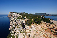bei Capo Caccia  an Bucht Porto Conte bei  Alghero, Provinz Sassari, Nord - Sardinien, Italien