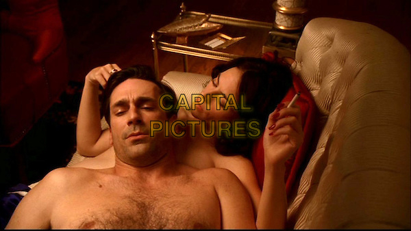 JON HAMM, MAGGIE SIFF<br /> in Mad Men (Season 1)<br /> *Filmstill - Editorial Use Only*<br /> CAP/FB<br /> Image supplied by Capital Pictures
