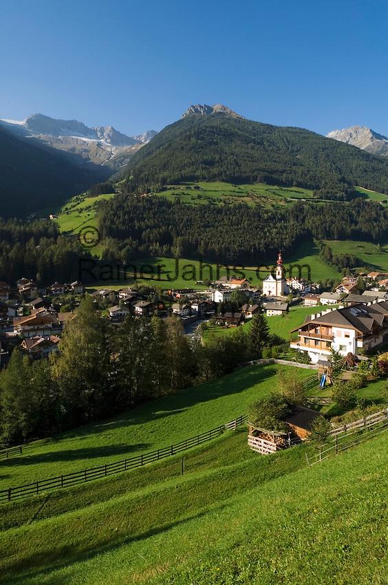 Italy, South Tyrol, Ahrnvalley, San Giovanni, village, church