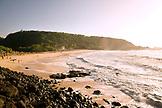 USA, Hawaii, Oahu, Distant view of people on a beautiful beach, Waimea Bay