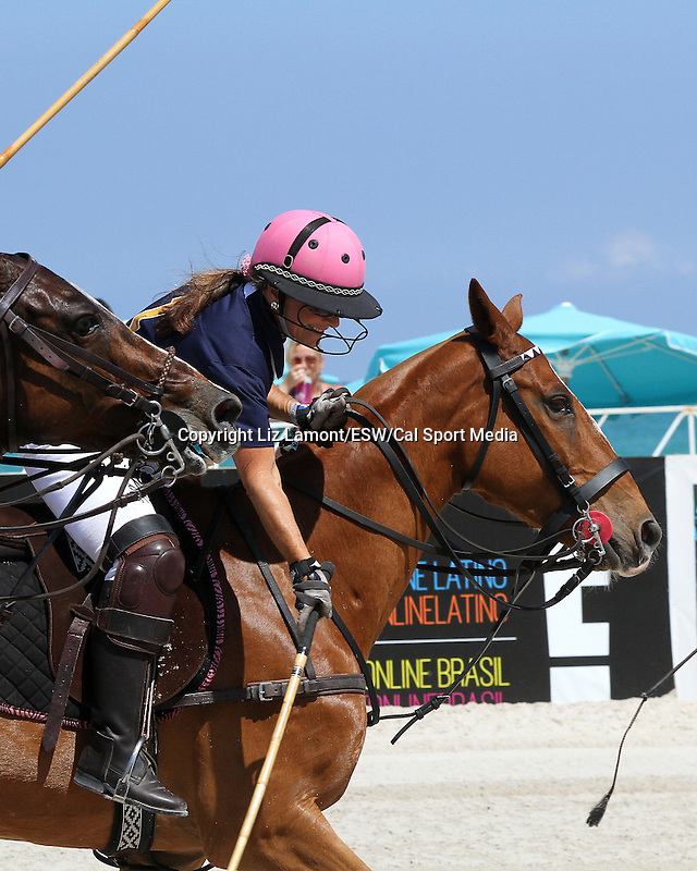 April 24, 2014:  The 10th Anniversary of the   Miami Beach Polo World Cup. Six men's and women's teams representing polo playing nations from around the world fight impressive battles in the 4 day event.  Miami Beach, FL Liz Lamont/ESW/CSM