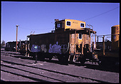 D&amp;RGW standard gauge caboose #01423 in Alamosa yards.  &quot;Od Caboose Going to 'Museum' at South Fork&quot;.<br /> D&amp;RGW  Alamosa, CO  Taken by Berkstresser, George - 4/2003