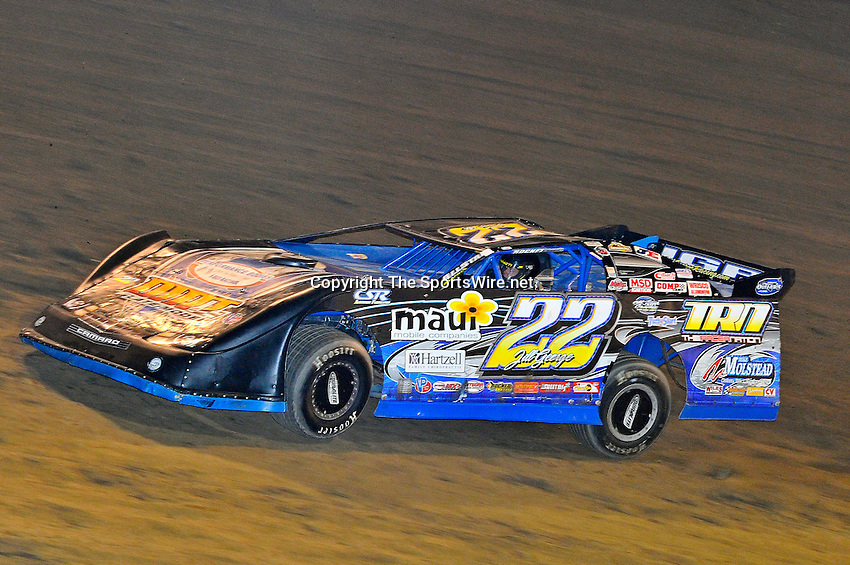 Sep 9, 2011; 9:40:36 PM; Rossburg, OH., USA; The 41st annual running of the World 100 Dirt Late Models racing for the Globe trophy at the Eldora Speedway.  Mandatory Credit: (thesportswire.net)