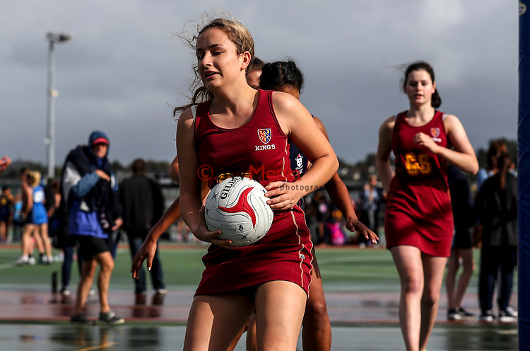 College netball, Kings College 3rd team v Diocesan social, Auckland Netball Centre, Mt Wellington, Auckland, New Zealand. Saturday 21 May 2016. photo: Simon Watts/www.bwmedia.co.nz