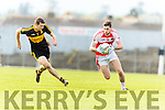 Michael Moloney Dr Crokes in action against Paul Geaney Dingle in the Senior County Football Semi Final in Fitzgerald Stadium on Sunday.