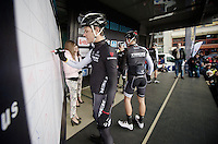 Jasper Stuyven (BEL/Trek Factory Racing) signing in<br /> <br /> Dwars Door Vlaanderen 2014
