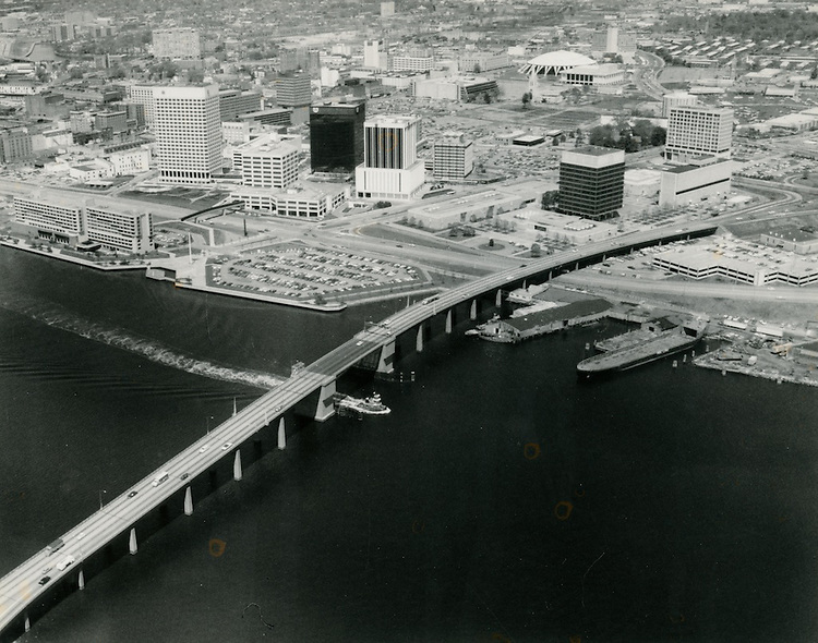 UNDATED..Redevelopment.Downtown South (R-9)..View looking Northwest at Downtown Norfolk.Financial District.City Hall.Omni Hotel.future Dominion Tower site...NEG#.NRHA#..