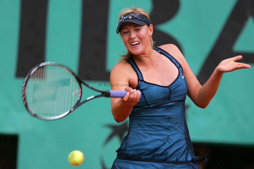 Photo: Iconsport/Richard Lane Photography..French Open, Roland Garros 2007. 31/05/2007..Maria Sharapova.