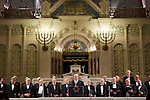 20.12.2015, Berlin Synagoge Rykestraße. Grand Final Concert of all choirs at the Louis Lewandowsky Festival for synagogal music. Festivaldirektor Nils Busch-Petersen