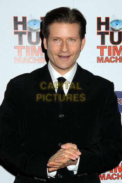 "CRISPIN GLOVER .""Hot Time Time Machine"" World Premiere Party held at the Cabana Club, Hollywood, California, USA..March 17th, 2010.half length suit jacket hands mouth open  black white .CAP/ADM/BP.©Byron Purvis/AdMedia/Capital Pictures."