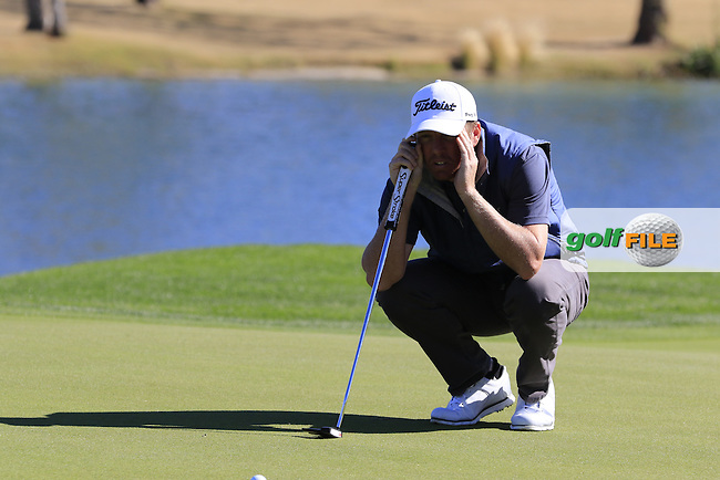 Derek Fathauer (USA) on the 18th green during Saturday's Round 3 of the 2017 CareerBuilder Challenge held at PGA West, La Quinta, Palm Springs, California, USA.<br /> 21st January 2017.<br /> Picture: Eoin Clarke | Golffile<br /> <br /> <br /> All photos usage must carry mandatory copyright credit (&copy; Golffile | Eoin Clarke)