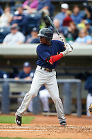 Cedar Rapids Kernels shortstop Nick Gordon (5) at bat during a game against the West Michigan Whitecaps on June 7, 2015 at Fifth Third Ballpark in Comstock Park, Michigan.  West Michigan defeated Cedar Rapids 6-2.  (Mike Janes/Four Seam Images)