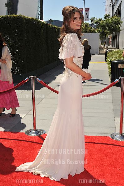 Stana Katic at the 2010 Creative Arts Emmy Awards at the Nokia Theatre L.A. Live..August 21, 2010  Los Angeles, CA.Picture: Paul Smith / Featureflash