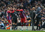 Dante of Bayern Munich comes on for Sebastian Rode of Bayern Munich  - UEFA Champions League group E - Manchester City vs Bayern Munich - Etihad Stadium - Manchester - England - 25rd November 2014  - Picture Simon Bellis/Sportimage