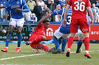 O's Josh Koroma equalises during Macclesfield Town vs Leyton Orient, Vanarama National League Football at the Moss Rose Stadium on 14th April 2018
