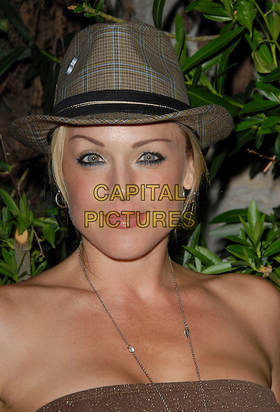 "STORM LARGE.attends Mark Burnett & AOL's Launch of ""Gold Rush"" interactive reality competition held at Les Deux in Hollywood, California, USA, September 12th 2006..portrait headshot hat.Ref: DVS.www.capitalpictures.com.sales@capitalpictures.com.©Debbie VanStory/Capital Pictures"