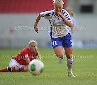 Adelina Engman of Finland in action during the UEFA Womens U19 Championships at Parc y Scarlets, Monday 19th August 2013. All images are the copyright of Jeff Thomas Photography-www.jaypics.photoshelter.com-07837 386244-Any use of images must be authorised by the copyright owner.