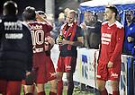 2015-10-31 /voetbal / seizoen 2015 - 2016 / Zwaluwen Olmen – Wezel / De spelers van Olmen, o.a. Toon Mertens (m), vieren de periodetitel met periodetitel