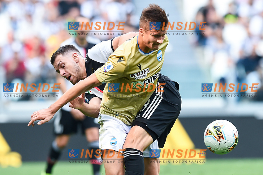 Aaron Ramsey of Juventus , Arkadiusz Reca of SPAL <br /> Torino 28/09/2019 Allianz Stadium <br /> Football Serie A 2019/2020 <br /> Juventus FC - SPAL <br /> Photo Image Sport / Insidefoto